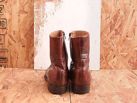 Vintage In Brown No. 473 Brown Zip Up Ankle Boot Size 8.5