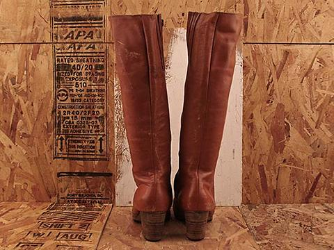 Vintage In Rust No. 480 Rust Tall Zip Boot Size 8.5