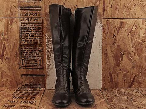 Vintage In Chocolate No. 483 Chocolate Stitched Tall Boot Size 8.5