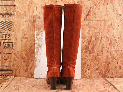 Vintage In Rust No. 494 Rust Zip Up Boot Size 6.5
