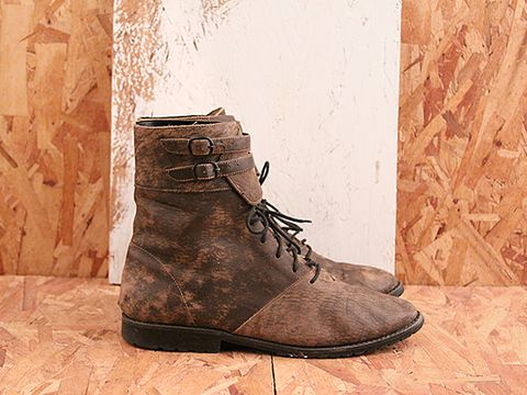 Vintage In Dust No. 498 Ankle Wrap Lace Up Boot Size 9