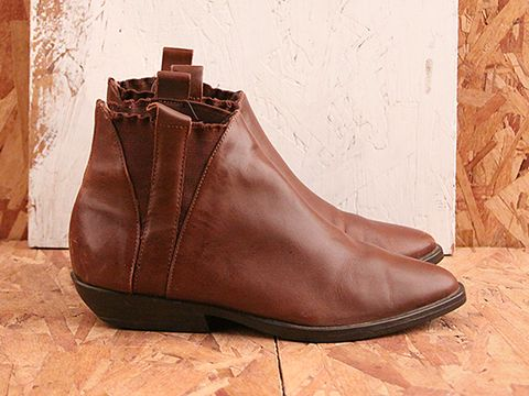 Vintage In Brown No. 502 Brown Gore Ankle Boot Size 6