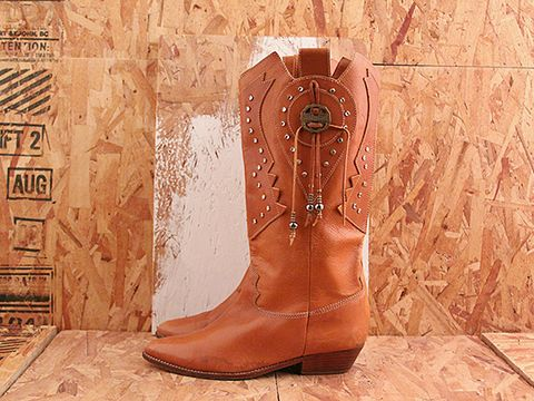 Vintage In Sienna No. 503 Fancy Cowgirl Boot Size 10