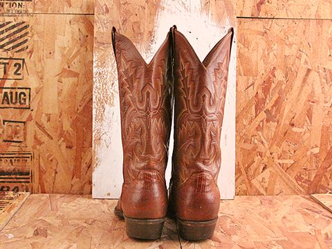 Vintage In Brown No. 505 Brown Cowboy Boot Size 9