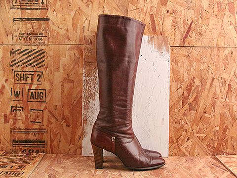 Vintage In Burgundy No. 509 Tall Burgundy Boot Size 8.5