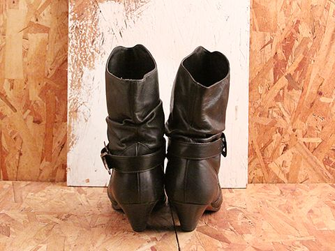 Vintage In Black No. 510 Western Ankle Boot Size 8