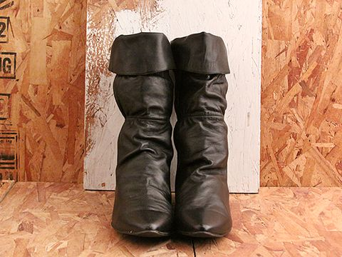 Vintage In Black No. 521 Black Scrunchy Boot Size 10
