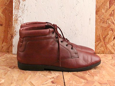 Vintage In Eggplant No. 523 Eggplant Lace Up Boot Size 10