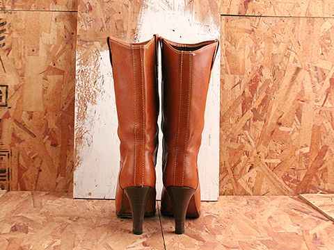 Vintage In Caramel No. 525 Caramel Leather Western Boots Size 6.5