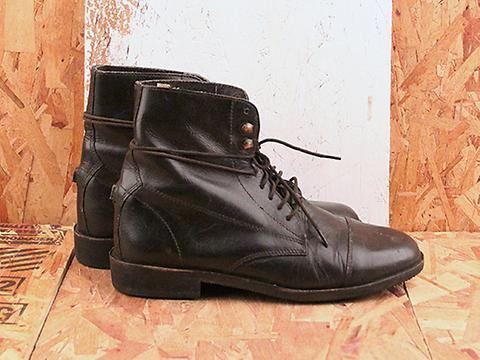 Vintage Black Lace Up Boots