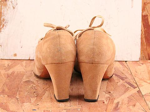 Vintage In Peanut No. 568 Beige Lace Up Loafer Size 8