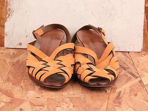 Vintage In Terra Cotta No. 569 Tan Peep Toe Slingback Sandal Size 7.5