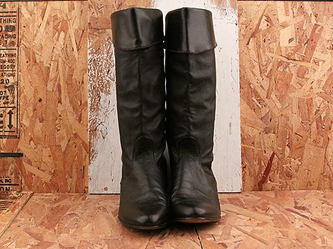 Vintage In Black No. 572 Classic Black Knee High Boot Size 10