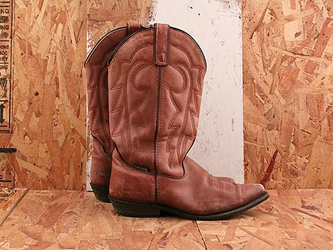 Vintage In Sepia No. 573 Almond Capezio Western Boot Size 7