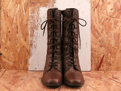 Vintage In Autumn No. 577 Brown Lace Up Knee High Boot Size 8.5