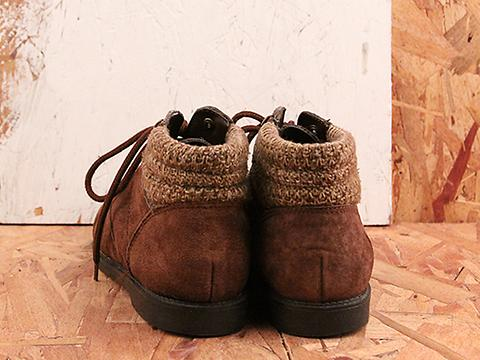 Vintage In Earthy Brown No. 578 Brown Suede Lace Up Ankle Boot SIze 8