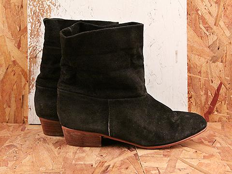 Vintage In Midnight No. 580 Black Suede Ankle Boot Size 8