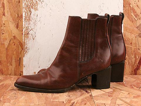 Vintage In Brown No. 581 Brown Heeled Ankle Boot Size 7