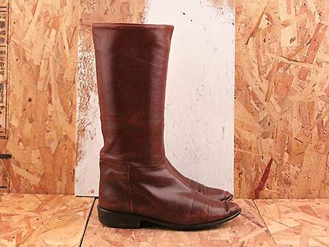 Vintage In In Love No. 588 Burgundy Leather Knee High Boot Size 6
