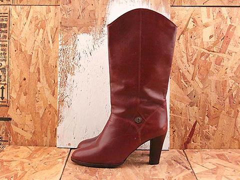 Vintage In Malbec No. 591 Burgundy Etienne Aigner Boot Size 8