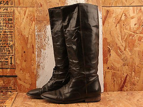 Vintage In black No. 612 Black Leather Lace Up Boot Size 7