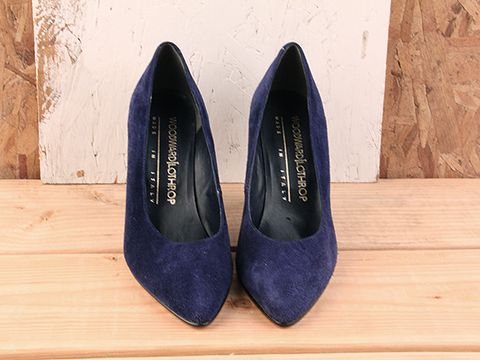 Vintage In Blue No. 82 Cobalt Blue Suede Pump Size 7