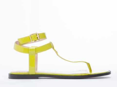 Vivienne Westwood Anglomania In Lime Patent Margie