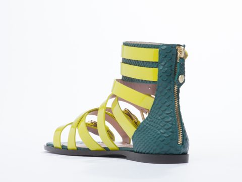 Vivienne Westwood Anglomania In Lime Patent Michele