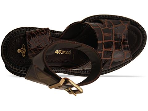 Vivienne Westwood Gold Label In Cocco Lucido Platform Sandal