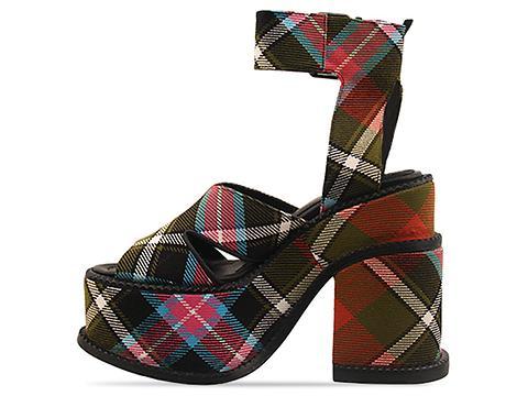 Vivienne Westwood Gold Label In Tartan Multi Platform Sandal