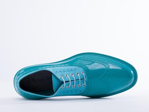 Vivienne Westwood In Blue Acqua Brogue Plastic