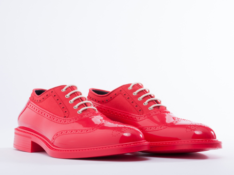 Vivienne Westwood In Rosso Lampone Brogue Plastic
