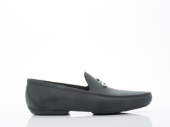 Vivienne Westwood In Black Orb Enamelled Moccasin Mens