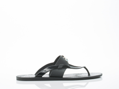 Vivienne Westwood In Black Orb Enamelled Sandal Mens