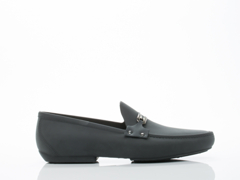 Vivienne Westwood In Black Safety Pin Moccasin Mens Black