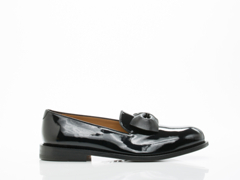 Vivienne Westwood In Black Utility Slip On With Bow Mens