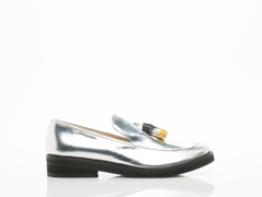 Weekend Barber In Silver Loafer T