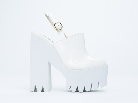 Windsor Smith In White Patent Pip