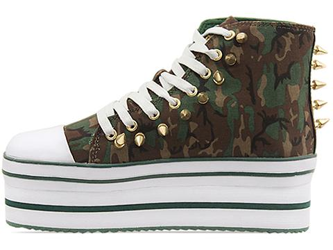 Y.R.U. In Camo Gold Spikes Elevation