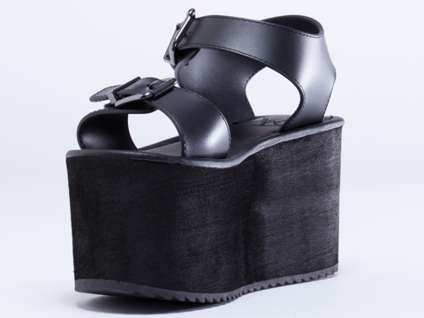 Y.R.U. In Black Orion Sandal