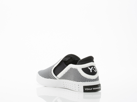 Y3 In White Black Black Laver Slip On Mens