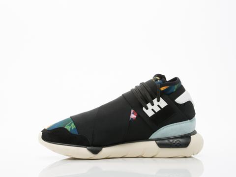 Y3 In Graphite Black Vapor Blue Qasa High Mens