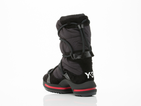 Y3 In Black Black Red Regu Snow Boot
