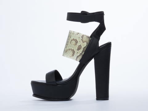 YES In Black Clear Snake Donna