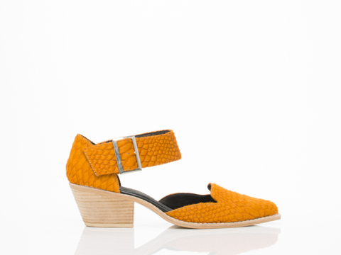 YES In Orange Snake Cowhide Mekong