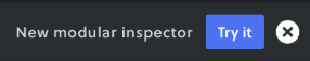 Switch to new Inspector button
