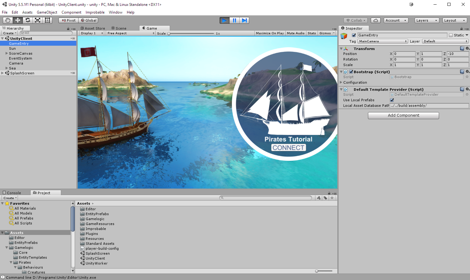 View from Unity Client