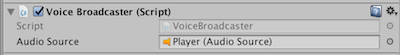 VoiceBroadcaster component