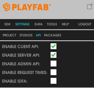 PlayeFab server API