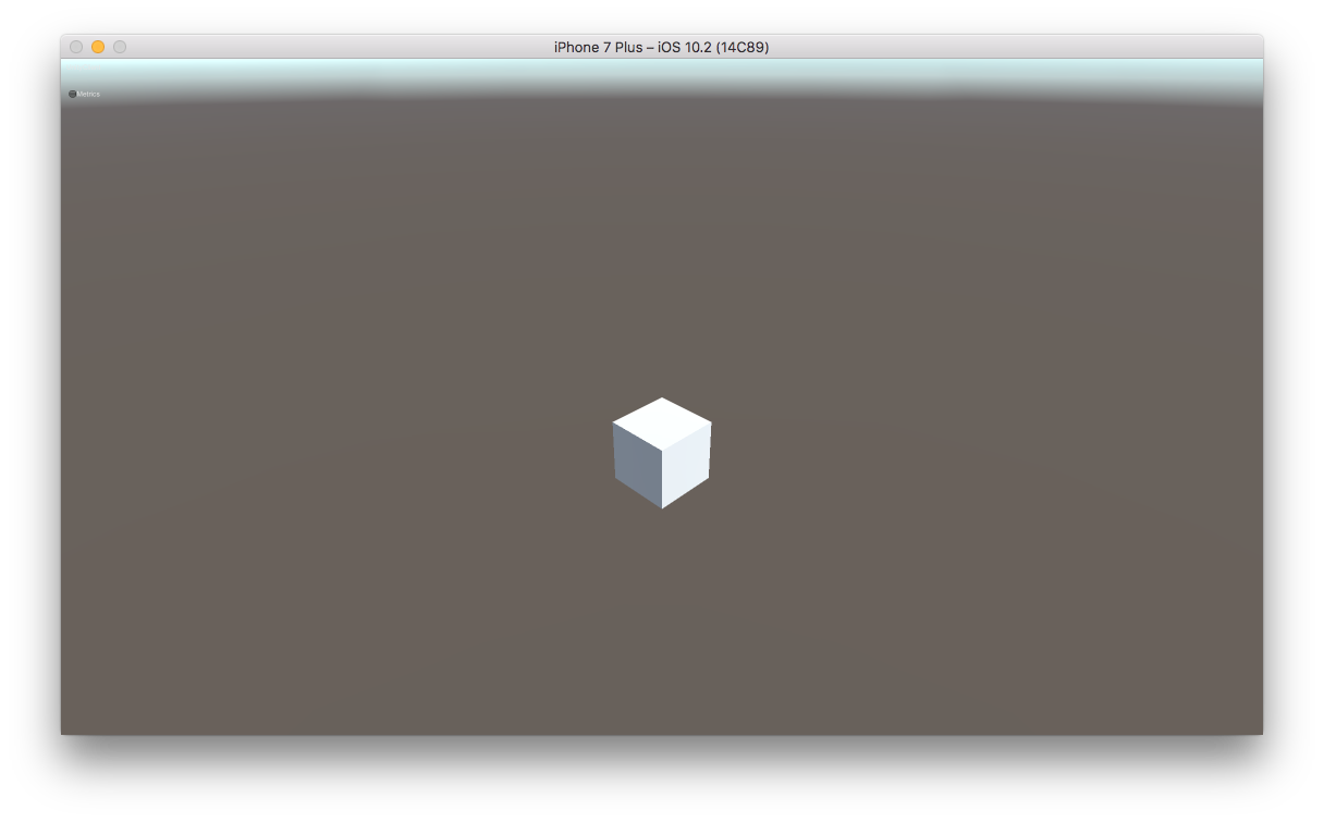 BlankProject running on the iOS Simulator
